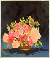 Vaszary Jelzéssel: Virágcsendélet. Olaj, Vászon, Keretben, 69×59 Cm - Non Classificati