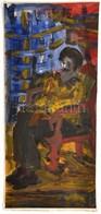 Vető Ágnes Róza (1912-1996): Háttal A Világosságnak. Olaj, Karton. Jelzett. 23x50 Cm - Non Classificati