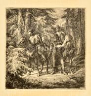 Vidai Brenner Nándor (1903-?): Kurucz Járás. Rézkarc, Papír, Jelzett, 22,5×22 Cm - Non Classificati