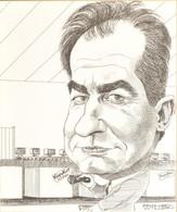 Richard Willson (1939-2011): KöpyKat. Tus, Papír, Jelzett, üvegezett Keretben, 30×25 Cm - Non Classificati