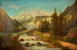 Olvashatatlan Jelzéssel: Alpesi Táj. Olaj, Vászon, 68×105 Cm - Non Classificati