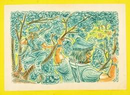 Olvashatatlan Jelzéssel: Robin Hood. Vegyes Technika, Papír, Kis Szakadással, 36×54 Cm - Non Classificati