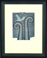 Olvashatatlan Jelzéssel: Liaison. Színes Rézkarc, Papír, üvegezett Keretben, 24×18 Cm - Non Classificati