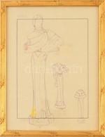 Jelzés Nélkül: Húszas évekbeli Divatrajzok. Vegyes Technika, Pauszpapír, üvegezett Keretben, 29×21 Cm - Non Classificati