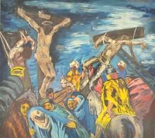 Jelzés Nélkül: Levétel A Keresztről, Pasztell, Fa, Paszpartuban, üvegezett Fa Keretben, 22×24 Cm, Olaj, Vászon, 60×45 Cm - Non Classificati