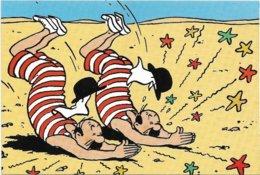 Hergé   *   Tintin  - Kuifje - Jansen & Jansens  (CPM Publicitaire Q8) - Bandes Dessinées