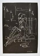 Jelzés Nélkül: L'art Pour L'art Tus, Papír.  52x34 Cm - Non Classificati
