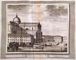 Cca 1715-1750 Domenico Lovisa (1690 K.-1750 K.): Velence: Ecclesia S. Georgii Majoris Rézmetszet, Papír, A Szerző Il Gra - Incisioni