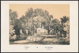 R. Alt (1812-1905): A' Temető Pesten. (Váci úti Temető.(Ma Már Nem Létezik.) Litho Kartonra Kasírozva Buda-Pest Előadva  - Incisioni