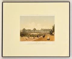 XIX. Század Palais Des Tuileries Pris De La Terrasse, Színes Litográfia, Paris, Godard, üvegezett Fa Keretben, 18x25 Cm/ - Incisioni
