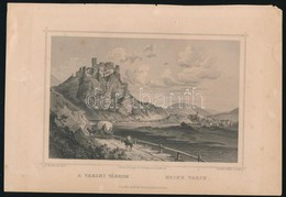 Cca 1850 Ludwig Rohbock (1820-1883)- Hatlitscheck: A Varini Várrom, Ruine Varin. Acélmetszet, Jelzett A Metszeten / Stee - Incisioni
