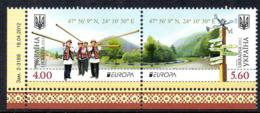 UKRAINE 1082/83 Europa Musique, Costumes - 2012