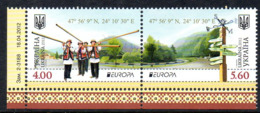 UKRAINE 1082/83 Europa Musique, Costumes - Europa-CEPT