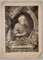 Schmutzer, Johann Adam (1680-1739):  XIV. Benedek (1675-1758)  Pápa Nagyméretű Rézmetszetű Portréja. 26x35,5 Cm / Large  - Incisioni
