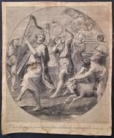 Cca 1710 Jacob Frey  Dominichin Után.: Vilor Fiam Plusquam Factus Sum, Et Humilis Ero In Occulis Meis. Rézmetszet. 31x38 - Incisioni