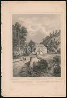 Cca 1860 Ludwig Rohbock (1820-1883): Vasfördő Porson (Pozsony) Mellett  / Pressburg. Acélmetszet. 17x14 Cm - Incisioni