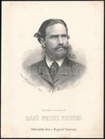 1867 Weichs Frigyes (1832-1873) Bajor Császári Kamarás.  Marastoni József Kőnyomatos Portréja / Count Friedrich Weichs.  - Incisioni