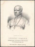 1867 Lepschy Dominik Schlögeli Apát, Cs. K. Tanácsos Kőnyomatos Képe. Marastoni József Munkája / Austria Counselor Litho - Incisioni