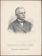 Cca 1867 Marastoni József: Johann Czaykowski Lovag Portréja, Litográfia, Papír, 27×21 Cm - Incisioni