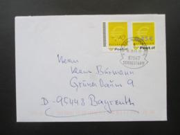 Österreich 2003 Ergänzungsmarken 1 Und 2 Als MiF Auf Einem Beleg Mit Stempel Sondertarif Rezlern Kleinwalsertal - 1945-.... 2. Republik