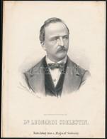 Cca 1867 Marastoni József: Leonardi Coelestin Osztrák Politikus Portréja, Litográfia, Papír, 27×21 Cm - Incisioni