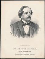 Cca 1867 Marastoni József: Heinrich Perger Von Pergenau Osztrák Politikus Portréja, Litográfia, Papír, 27×21 Cm - Incisioni