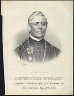 1867 Schwerdfeger Engelbert Zalavári és Gottwiczi Apát, Cs, Kir Tanácsos Kőnyomatos Portréja. Joseph Bauer / Lithographi - Incisioni