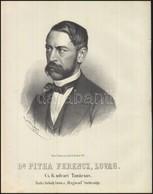 1867  Dr. Pitha Ferenc Lovag, Cs, Kir, Udvari Tanácsos Kőnyomatos Portréja. Joseph Bauer Munkája.  / Lithographic Portra - Incisioni