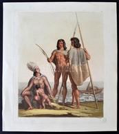 Cca 1810 G.Gallina F: Harcosok és Családtagok. Színes Litográfia, Papír, 24×19 Cm - Incisioni