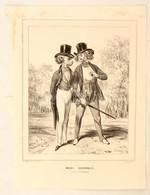 1839 Hihetetlen Divat. Francia Kőnyomatos Rajz, Humoros Grafika. S: Darny. Slightly Racist Caricature  Gavarni Style / 1 - Incisioni