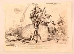 1839 Lord Farcington Francia Kőnyomatos Rajz, Humoros Politikai Grafika / 1839  French Lithographic Caricature 31x23 Cm - Incisioni