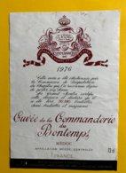 12174 - Cuvée De La Commanderie Du Bontemps 1976 Médoc - Bordeaux