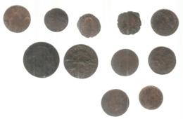 JC , LOT DE 11 MONNAIES ,  Frais Fr 4.00 E - Lots & Kiloware - Coins