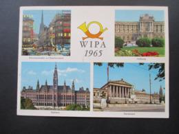Österreich Klappkarte Wipa 1965 Broschürenkarte Verlag Und Druck Fleischmann & Jaeger Mit Wipa Marken Ausgabe 1965 - 1945-.... 2. Republik