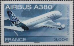 FRANCE Poste Aérienne  69 ** MNH Airbus A380 Avion Ligne Plane Vendu à La Faciale - Airmail