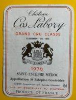 12177 - Château Cos Labory 1978 Saint-Estèphe - Bordeaux