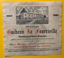 12178 - Château Guibeau La Fourvieille 1967 Puisseguin - Bordeaux