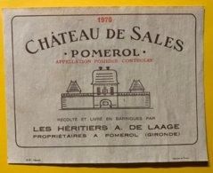12179 - Château De Sales 1970 Pomerol - Bordeaux