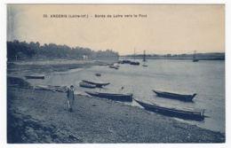 CPA Ancenis, Bords De Loire Vers Le Pont,, Ungel. - Ancenis