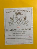 12180 - Château La Bridane 1979 Saint-Julien - Bordeaux