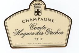 """Etiquette Du Champagne  """"comte Hugues Des Ouches - Champagne"""