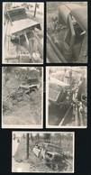 Cca 1960-1970 Árokba Borult Csepel-teherautó, 5 Db Fotó, 6x9 Cm - Altre Collezioni
