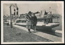 1932 Az MFTR Deák Ferenc Gőzöse, Hátoldalon Feliratozott Fotó, 5×7 Cm - Altre Collezioni