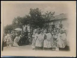 1920 Gyögyös ünnepség Fotója. 9x12 Cm - Altre Collezioni