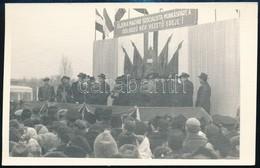 1958 A Kiskörei Tisza Híd és A Kisköre-Abádszalók Közötti Helyreállított Vágányának Forgalomba Helyezési ünnepsége, Háto - Altre Collezioni