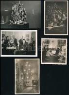 Cca 1920-1960 Régi Karácsonyok, 5 Db Fotó, 6×6 és 6×9 Cm Közötti Méretekben - Altre Collezioni