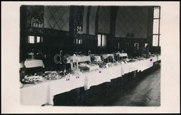 1933 Kecskemét, Főzőiskolában Készült Torták, Hátoldalon A Megjelölt Torták Leírásával, Fotólap, 9×14 Cm - Altre Collezioni