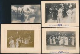 1908 Pozsony, életképek Egy Rendezvényről, 4 Db Fotó, 7×10 és 7×11 Cm - Altre Collezioni