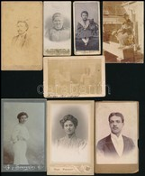 Cca 1870-1900 15 Db Vizitkártya és Kisebb Méretű Fotó - Altre Collezioni