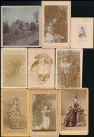 Cca 1870-1900 17 Db Kb Vizitkártya Méretű Fotó - Altre Collezioni